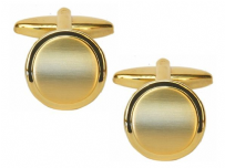 Dalaco 90-2212 Dual Finished Round Gold Plated Cufflinks
